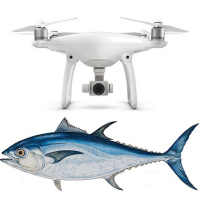 dji phantom fishing drones